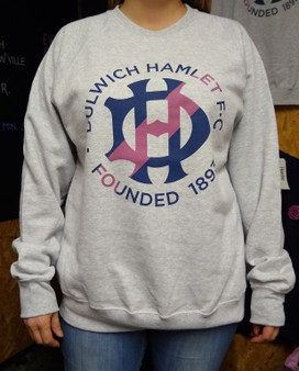 Grey Printed Crest Sweatshirt