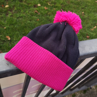 Duo Tone Bobble Hat