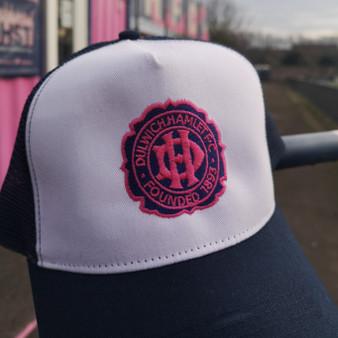 Navy & White Anniversary Crest Dulwich Hamlet Trucker Cap