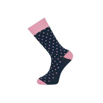 Pink and Navy Polka Dot Socks