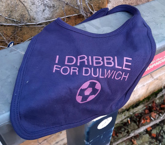 I Dribble For Dulwich Navy Baby Bib