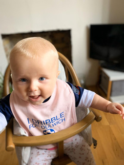 I Dribble For Dulwich Pink Baby Bib