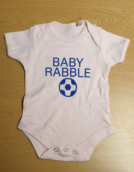 Baby Rabble Pink Baby Grow
