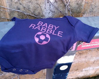Baby Rabble Navy Baby Grow
