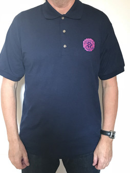 Adult Anniversary Crest Navy Polo Shirt
