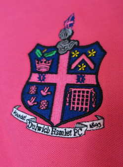 Fucshia Pink Pique Polo Shirt with Club Crest - Kids