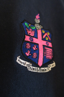 Kids DHFC Crest Navy Pique Polo Shirt