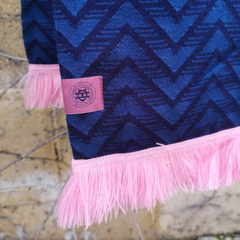 Adult Navy Patterned Scarf