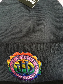 Navy beanie with LGBT crest