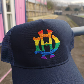 Navy LGBTQ+ Rainbow Trucker Hat