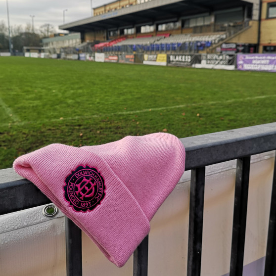 Adult Pink Anniversary Crest Beanie