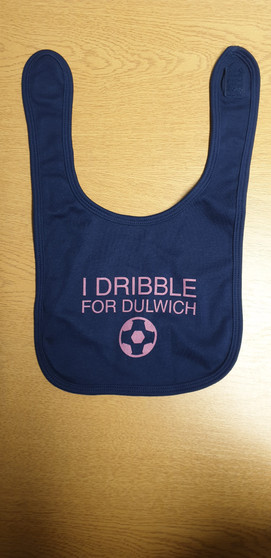 I Dribble For Dulwich Baby Bib - Navy