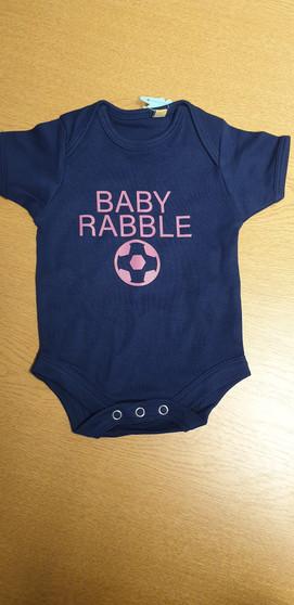Baby Rabble Navy Baby Grow