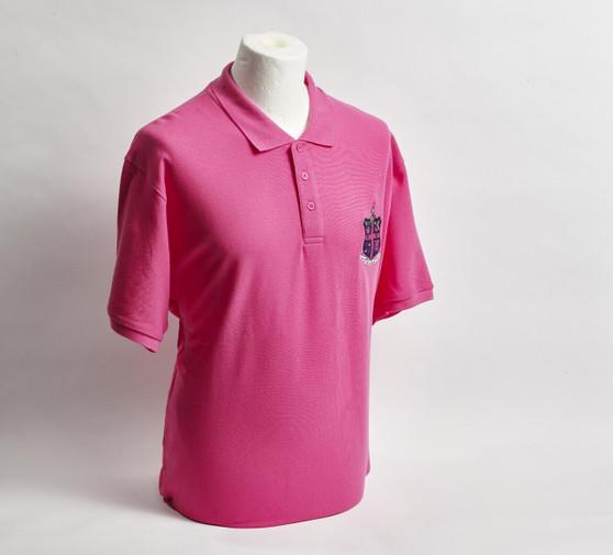 Fucshia Pink Pique Polo Shirt with Club Crest - Kids