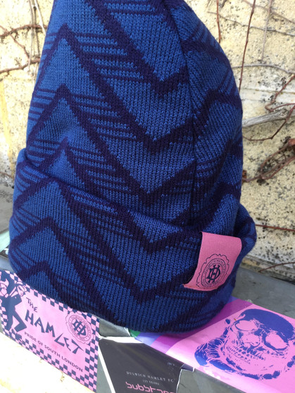Adult Navy Patterned Beanie