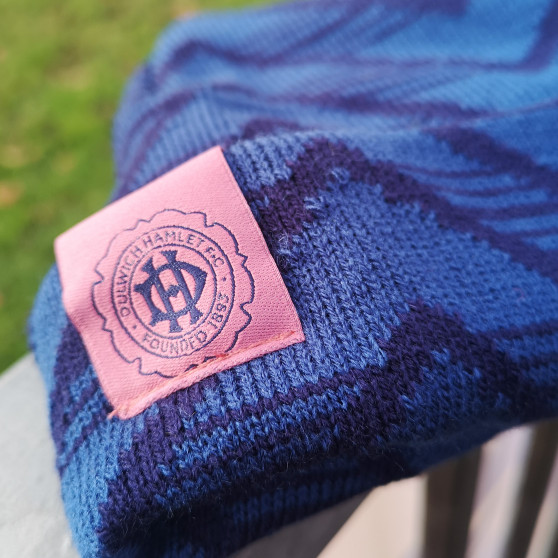 Adult Navy and Pink Patterned Beanie