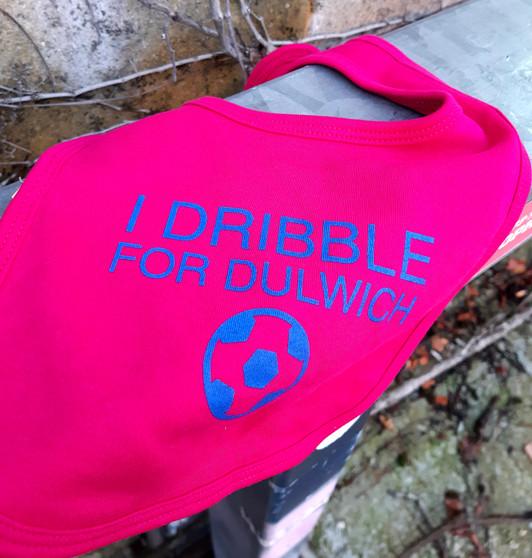 I Dribble For Dulwich Fuchsia Pink Baby Bib