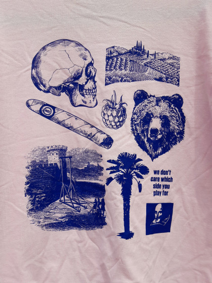 Pink Illustrated Adult T-shirt