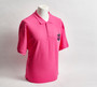 Fuschia Pink Pique Polo Shirt with Club Crest - Men