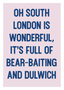 Rabble Poster - Oh South London (Pre-Order Collection)