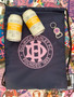 Navy Cooler Bag with Pink Club Crest