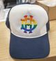 Navy & White LGBTQ+ Rainbow Trucker Hat