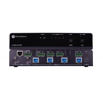 4K/UHD Four-Output HDMI to HDBaseT Extended Distance Distribution Amplifier AT-UHD-CAT-4ED