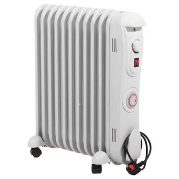 Prem-I-Air 2.5 kW 11 Fin Oil Filled Radiator with 24 Hour Timer EH1846