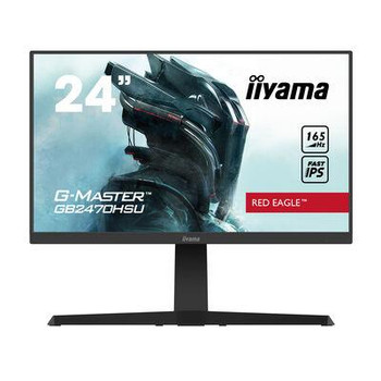 24Black IPS Monitor Full HD Speakers Height Adjustable DisplayPort and HDMI GB2470HSU-B1