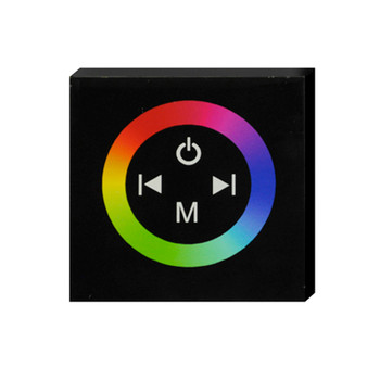 Glass Faced Touch Panel controller for RGB LED lighting with colour Wheel