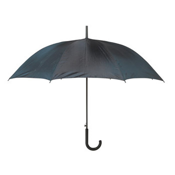 23 Black Polyester Umbrella with Auto-Open