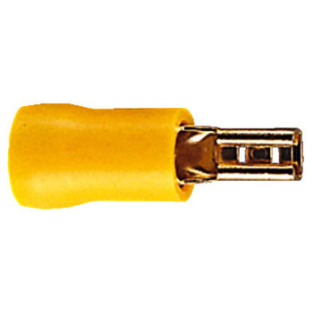 Eagle Yellow Gold Plated 3mm Receptacle Insulated Terminal For Cable Up To 6.64mm [ F473BC ]