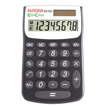 Aurora Blk/Wht 8-digit Calculator EC101