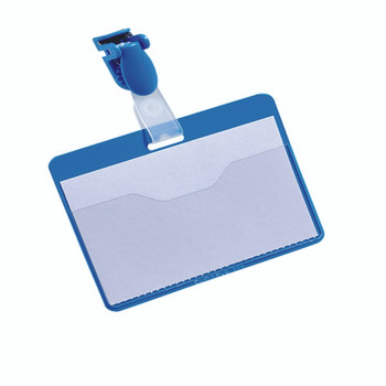 Durable Blue 60x90mm Badge Pk25 8147/06