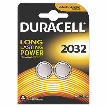 Duracell 3V DL2032 Battery Lithium Pk2