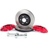 """The ALCON front & rear big brake kit for 2007-2018 Jeep Wranglers offers unmatched performance both on and off road for your daily driver or purpose built trail rig. Utilizing massive 350mm front and 330mm rear rotors in conjunction with 4 piston calipers all around helps achieve up to 45% improved performance over the OEM brakes.Here's the facts from ALCON:- Gains in performance over stock braking systemsUp to 30% reduction in disc temperature riseUp to 26% reduction in pad work rateUp to 25% reduction in pedal effort- Ductile Iron caliper housing providing maximum strength and stiffness as well as high resistance to impact & fatigue- Epoxy acrylic paint over acid zinc finish for maximum corrosion protection- High friction pads significantly increase both stopping distance & stopping power- Larger rotors increase brake torque and thermal capacity, reducing potential for brake fade- Increased pad area reduces temperatures and increases pad life- Retains & utilizes OEM parking brake- Fits many 17"""" and larger aftermarket wheelsNotes: This kit is for both the front & rear axles, the individual front or rear kits are avaliable - please call in to inquire about these kits, thank you!Rebel's take: """"We're running Alcon's Big Brake Kit on two separate Jeeps at the shop, and the added performance is absolutely incredible. We could literally use one big toe to stop the Jeep with no problems at all. We upgraded the Rebel Command vehicle to 42"""" Maxxis Trepador tires and the Alcon brakes bring it to a stop far shorter than a stock Jeep - which say's quite a lot about the stopping power these things make...""""IF YOU HAVE ANY QUESTIONS PLEASE GIVE US A CALL AT 866-900-8841 TO SPEAK WITH A BUILD SPECIALIST. THEY'LL BE ABLE TO APPLY YOUR NEW $300 GIFT CERTIFICATE IMMEDIATELY TO YOUR ALCON BIG BRAKE PURCHASE!Installation Instructions"""
