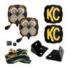 KC HiLiTESFLEX ERA® 4 - 2-Light System - Pillar Mount - 80W Combo Beam - for Jeep JK