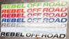 """Rebel Off Road Windshield Banner 50"""""""