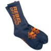 Rebel Off Road All-Terrain Men's Socks, Charcoal, Orange Block Logo