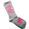 Rebel Off Road All-Terrain Women's Socks, Gray, Pink Miami Logo