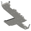 """HEAVY DUTY STEEL SKID PLATES FOR ULTIMATE AND COMPLETE PROTECTION.Artec Industries' NEW JL Bellypan is designed to give your 2018+ Jeep JLU Wrangler full protection underneath the vehicle. Designed using CAD files directly from the manufacturer, this belly pan skid plate ensures that you have a great fit with factory components. Made from 3/16"""" thick bare Steel skids and 3/16"""" zinc plated Steel brackets, and CNC cut and formed, the Artec JL Bellypan Kit offers the ultimate heavy strength solution for your new Jeep JLU.At a total of 172 lbs, the total net weight is 96 lbs more than factory skids but much heavier duty and more complete coverageIncreases ground clearance of 3/4"""" from factory skids and even more compared to other aftermarket skid plates3/16"""" bare Steel for skid plates (finishing required) and 3/16"""" zinc plated steel brackets*Skid Plates are bare unfinished steel so you can choose your best finishing whether its powdercoating for a great look, truck bed liner for durability, or rattle can for easy touch ups*Designed from factory CAD files for great and ultra precise fit.CNC laser cut and CNC formed using custom rolled dies for high strength, unique look, and perfect contour fitment to OEM components.All bolts under skid plate are countersunk for absolutely smooth bottomAll nuts are pressed into steel brackets for easy, one tool removalBolts directly to OEM T-case crossmember and frame using heavy duty flat head bolts that match OEM threadNo need for an aftermarket T-case crossmember for completely flat surfaceModular design lets you take off only one section for vehicle servicingProtects Oil Pan, Transmission Pan, Gas Tank, Front Exhaust and Transfer CaseOEM gas tank skid is replaced for reduced weight and 3/4"""" higher clearance**Artec Gas tank skid can be removed without dropping entire tank thanks to new additional cross-member and tank strap.Clearance near rear drive yoke shaft to prevent rubbingFor a 44% reduction in weight, see our ALUMINUM BELLYPAN."""