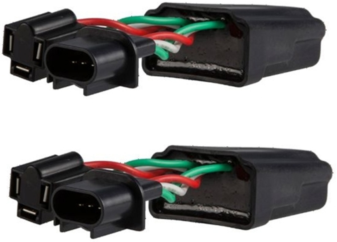 """Truck-Lite 96830 7/"""" Round LED PWM Anti-Flicker Harness H4 to H13 Adapter Jeep 2"""