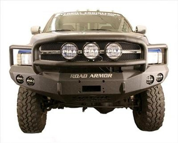 Road Armor Front Stealth Winch Bumper, Lonestar Guard, Satin Black 10