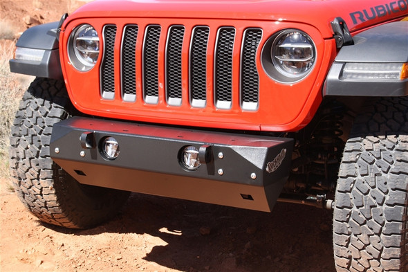 ROCK HARD 4X4 - PATRIOT SERIES GRILLE WIDTH FRONT BUMPER FOR JEEP WRANGLER JL 2018 - CURRENT