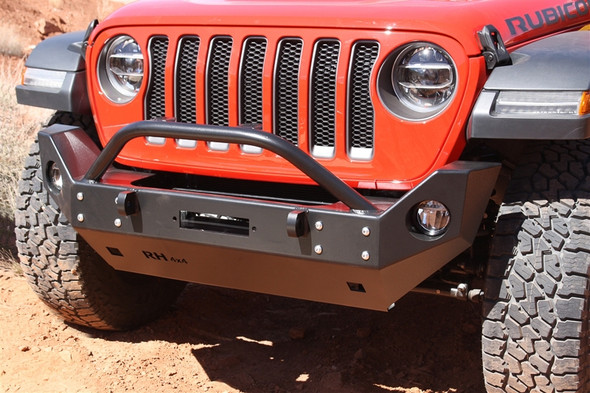 ROCK HARD 4X4 - PATRIOT SERIES MID-WIDTH FRONT BUMPER W/ RECESSED WINCH PLATE (2018 JL WRANGLER)