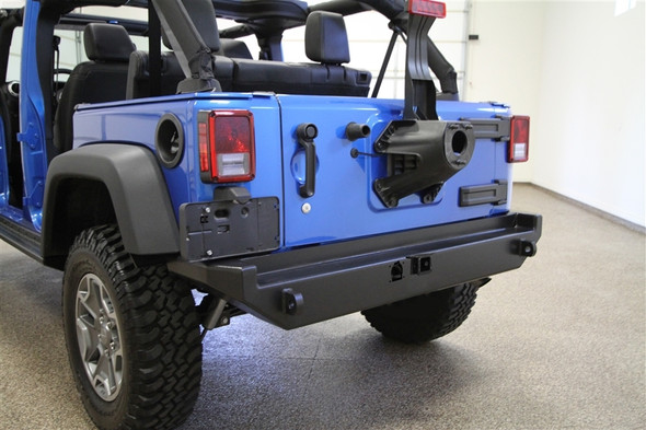 Rock Hard 4x4 Rear Bumper w/o Tire Carrier for Jeep Wrangler JK 2/4DR 2007 - 2018