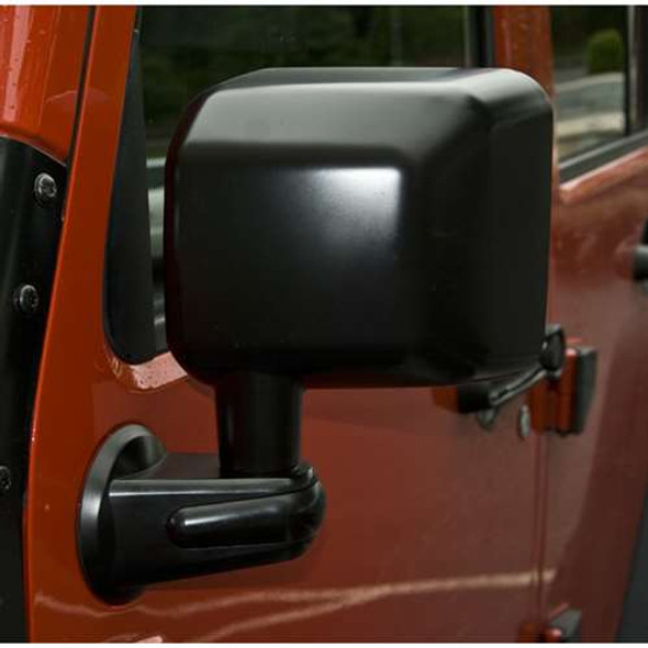 Rugged Ridge Door Mirror, Black, LH, 07-14 Jeep Wrangler (JK)