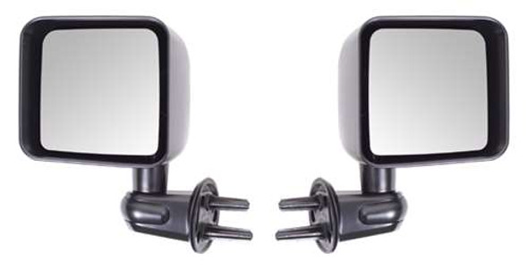 Rugged Ridge Door Mirror Kit, Black, 07-14 Jeep Wrangler (JK)