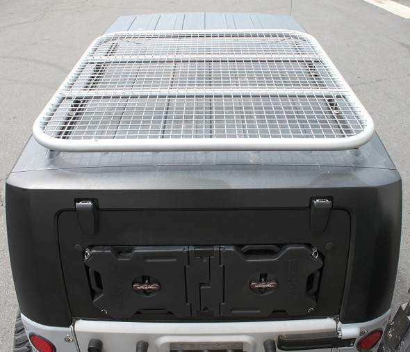 HALO Jeep Wrangler JK 4 Door Roof Rack - Single Bar