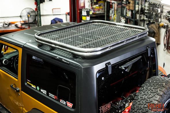 HALO Jeep Wrangler JK 2 Door Roof Rack - Double Bar